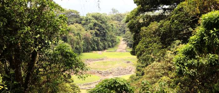 Important archeological site of Costa Rica