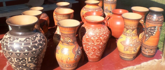 Folkloric artisans town pottery pieces