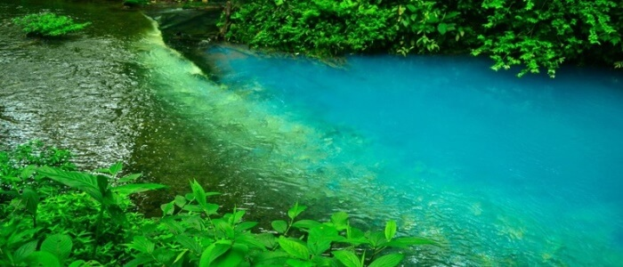 Blue River at Tenorio Volcano National Park