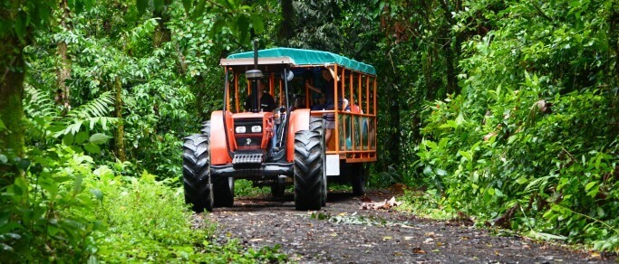 arenal volcano adventure tractor ride