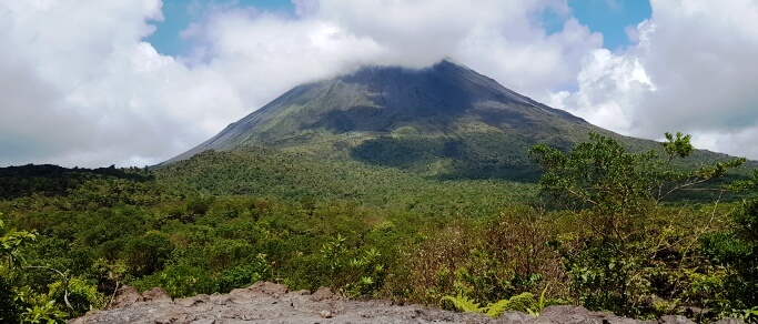 arenal volcano lava hike tour in costa rica