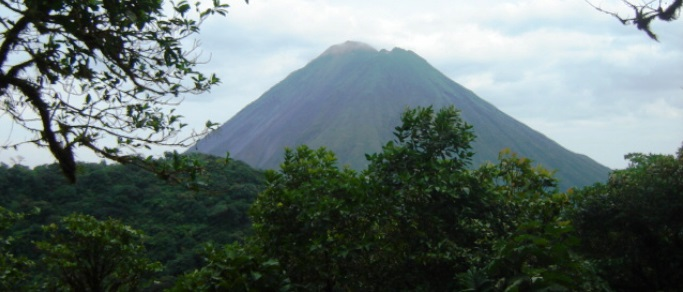 beautiful view of arenal volcano