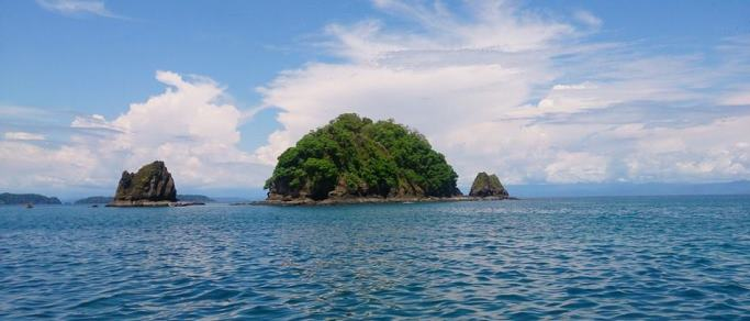boat tour with gorgeous views of several islands
