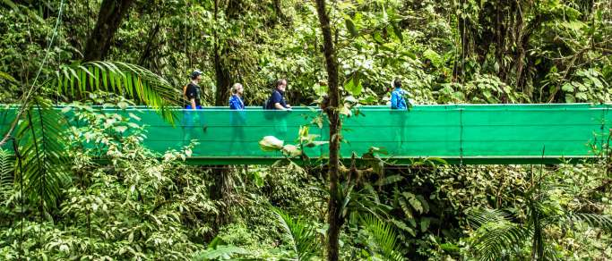 costa rica hanging bridges tour