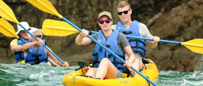costa rica ocean kayaking snorkeling tour