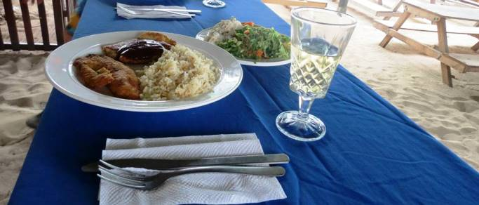 delicious gourmet lunch accompanied with wine included