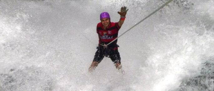 extreme waterfall rappelling tour
