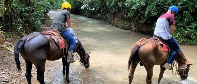 horseback riding in the rainforest from manuel antonio