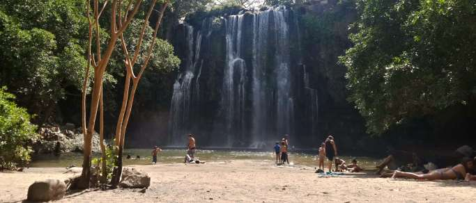 llanos del cortez waterfall tour