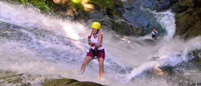 manuel antonio waterfall rappelling tour