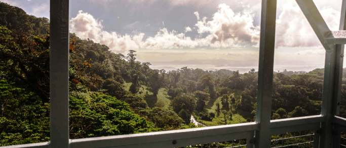 monteverde cloudforest view from sky tram