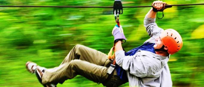 rainforest zip lining adventure for the family