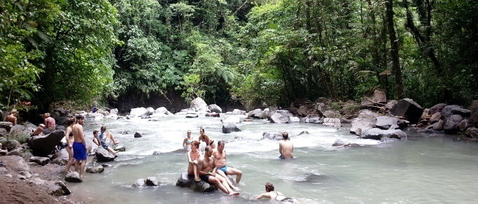 relax at fortuna waterfall
