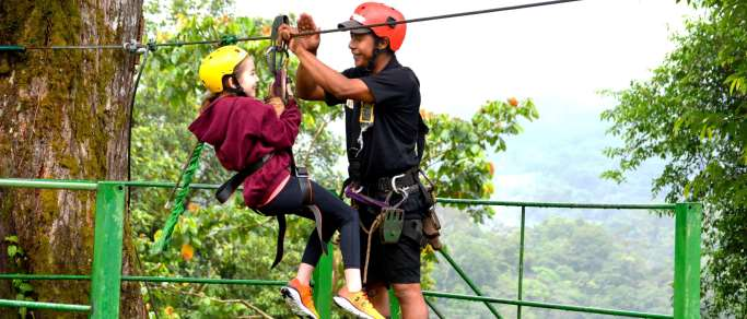 safe zip lining tour for the kids
