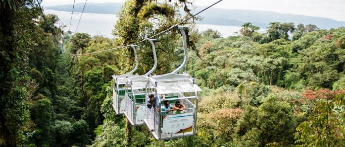 sky tram adventure tour in costa rica