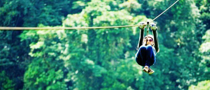 sky trek zip lining tour from fortuna town