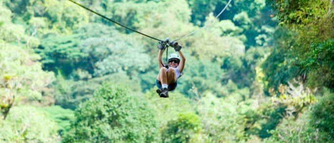 sky trek zip lining tour