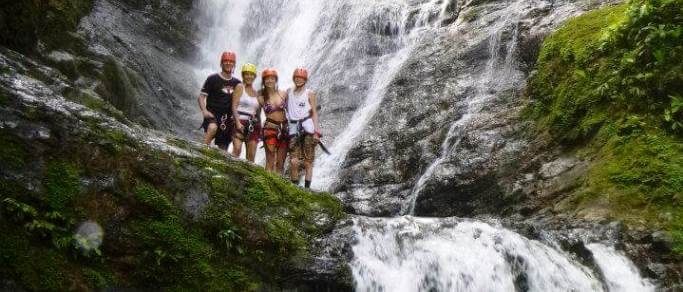 waterfall rappelling tour from manuel antonio