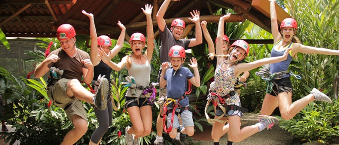 zip lining tour for the family