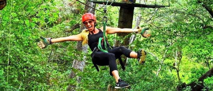 zip lining tour from playa hermosa el coco riu resorts area