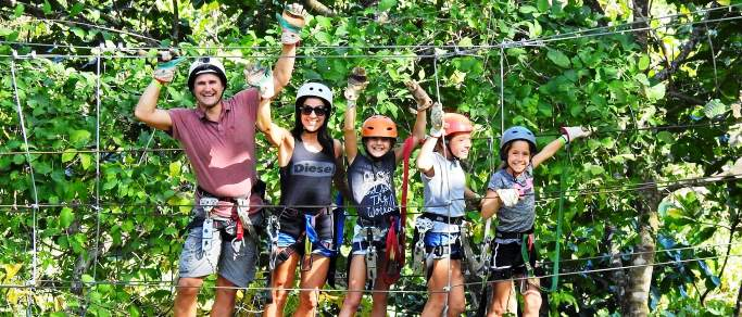 zip lining tour playa hermosa el coco riu resorts area