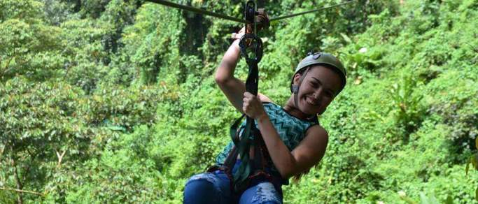 zip lining waterfalls hot springs volcano wildlife combo tour