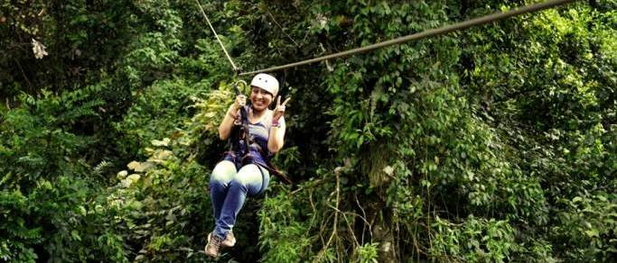 costa rica zip lining tour in the rain forest