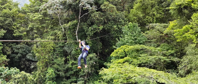 zip lining in the costa rica rainforest
